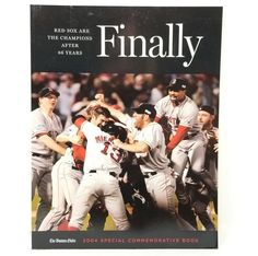 8ae04b628 Boston Red Sox 2004 World Series Champions Globe Commemorative Book Finally  NEW  BostonRedSox Basketball Video