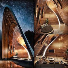 Architecture Design, Concept Architecture, Amazing Architecture, Futuristic Interior, Futuristic Architecture, Villa Design, Conception Villa, Portfolio D'architecture, Great Buildings And Structures