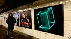 Digital Art into NYC subway