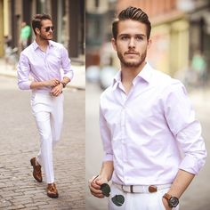 Boga Shirt, Shoes Men fashion style beautiful hot gorgeous gay 3-piece linen suit Men fashion style beautiful hot gorgeous gay straight guys suits pants bulge shirt sweater jacket tie tuxedo bro shoes casual formal street MM LGBT M4M