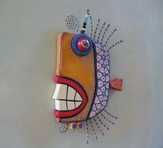 Hey, I found this really awesome Etsy listing at https://www.etsy.com/listing/204745202/lerch-the-fish-original-found-object