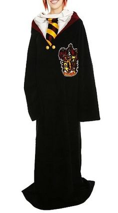 Currently sporting my Harry Potter Snuggie that looks like this,while at the computer..yes i have a HP snuggie...i also have a plain purple snuggie! HATERS GON' HATE! <3
