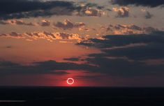 """Annular Eclipse - Sunset Ring of Fire by Dan McGlaun Sunday, 20 May 2012     Big Spring State Park, TX  32° 13' 58.4""""N - 101° 29' 27.2""""W"""