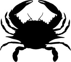 Crab Decal H-Fish- Vinyl Window Stickers - Wildlife Decal Window Stickers, Window Decals, Vinyl Decals, Vinyl Art, Silhouette Portrait, Silhouette Cameo, Crab Art, Street Art, Paint Colors For Living Room
