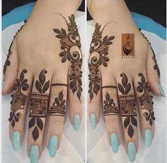 Modern Henna Designs, Hena Designs, Simple Arabic Mehndi Designs, Mehndi Designs For Fingers, Fingers Design, Henna Tattoo Designs, Henna Tattoos, Mehndi Design Pictures, Mehndi Images