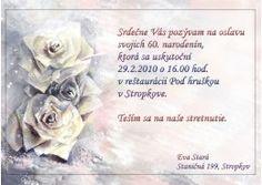 Pozvánka na oslavu jubilea - JU004