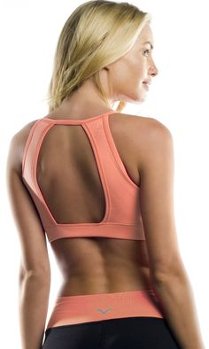 A truly unique back, Vipe Front V Bra with Peekaboo Back
