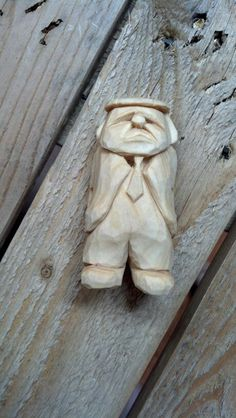 Old man unpainted in progress www.ozarkwalkingsticks.com #carving #caricature #woodcarving #ozarkwalkingsticks