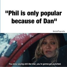 Phil - 9 Years on YT Dan - 6 Years on YT. So that's wrong and the statement at the bottom is true. Phil Lester, British Youtubers, Best Youtubers, Dan Howell, Phan Is Real, Phil 3, Dan And Phil Memes, Dan And Phill, Danisnotonfire And Amazingphil