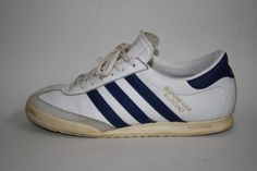 Vintage Adidas Beckenbauer Man's Shoes Size 7 UK 41 EU Trainers White Leather