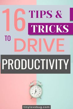 16 ways to be more productive and get the most out of your time. These are the tips that I use to complete my to-do list almost every day! Productivity Quotes, Improve Productivity, Self Development, Personal Development, Business Tips, Online Business, How To Be More Organized, Saving Tips, Time Saving