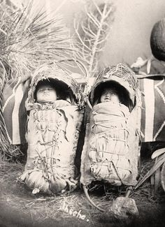 American Indian babies. Taken in 1916 by Harris & Ewing.