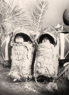 American Indian babies. Taken in 1916 by Harris & Ewing.
