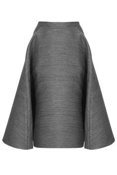 **Full A-Line Midi Skirt by Unique - Unique - Clothing - Topshop