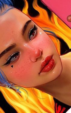 New digital art realistic illustrations ideas Digital Art Girl, Digital Portrait, Portrait Art, Portraits, Realistic Drawings, Cute Drawings, Foto 3d, Art Mural, Fantastic Art