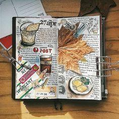 Album Journal, Sketch Journal, Bullet Journal Art, Scrapbook Journal, Bullet Journal Inspiration, Journal Prompts, Art Journal Pages, Art Journals, Journal Ideas