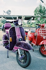 Purple Velvet Vespa scooter... my life would be complete