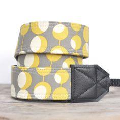 Pretty Polka Dot Camera Strap DSLR - Amy Butler Martini Mustard. $33.00, via Etsy. Amy Butler, Soft Suede, Mustard, Polka Dots, Martini, Bags, Etsy, Bling, Photography
