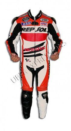 Honda Repsol Marc Marquez Motogp One Piece Motorbike Racing Leather Suit