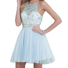 VILAVI Round Brought Short graduation dresses Juniors Dresses 2 Light Sky Blue *** Details can be found by clicking on the image.(This is an Amazon affiliate link and I receive a commission for the sales)