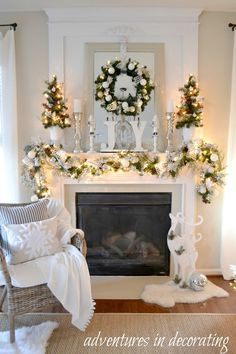 Adventures in Decorating: Our 2016 Christmas Tour, Part Two . - Adventures in Decorating: Our 2016 Christmas Tour, Part Two … - Classy Christmas, Beautiful Christmas, Christmas Home, White Christmas, Christmas Villages, Victorian Christmas, Christmas Trees, Vintage Christmas, Christmas Cards