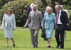 Tourism: Earlier, the prince had joined tourism chiefs and Michael Eavis for a tour of Gla...