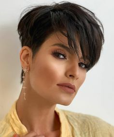 Blonde Pixie Haircut, Short Pixie Haircuts, Hairstyles Haircuts, Curly Pixie, Easy Hairstyles For Thick Hair, Short Hairstyles For Women, Short Hair Cuts For Women, Short Hair Styles, Black Curly Hair