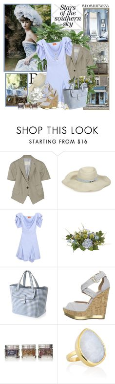 """""""Stars of the southern sky"""" by helleka ❤ liked on Polyvore featuring Band of Outsiders, Hoss Intropia, Vivienne Westwood Red Label, Nearly Natural, Marc Jacobs, Madison Harding, Monica Vinader, Who What Wear, Monsoon and wide brim hats"""