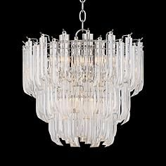 "Checcinato 16"" Wide 5-Light Chrome with Acrylic Chandelier"