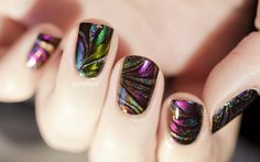 Black base - ultrachromes ILNP and Mega. In guest, my pretty sweat Jaded holographiiiiiiique London.