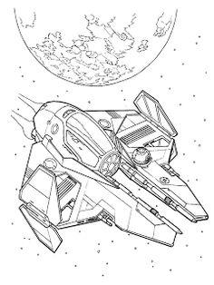 Imagens para Colorir Gerra nas Estrelas (Star Wars)