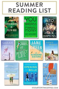 sharing my summer reading list of books you will want to snag ASAP for your summer reading and a bit about each one for you Summer Books, Summer Reading Lists, Beach Reading, Best Books To Read, Good Books, Personal Development Books, Little Library, Science Books, Book Publishing