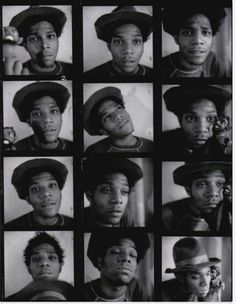 Many faces - Basquiat