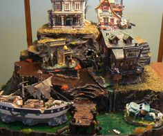 lemax halloween miniature villages | Custom Halloween Village Display platform for Tracy by nmitch1991