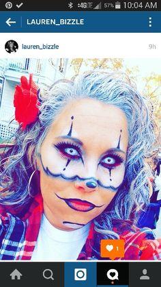 #Prettyclown #Gangstaclown #Clownmakeup #Clowncostume #WhiteEyes #Halloweenmakeup #Contacts #Whitecontacts #Halloweencontacts #Clown