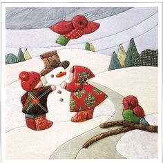 ¡¡¡¡¡¡¡¡¡¡¡¡¡¡¡¡¡¡¡¡¡¡¡¡PATCHWORK SIN AGUJA!!!!!!!!!!!!!!!!!!!!!!!!!!!!!!!!!!!!                                                                                                                                                                                 Más Applique Patterns, Applique Quilts, Applique Designs, Patchwork Quilting, Quilt Patterns, Girls Quilts, Baby Quilts, Christmas Sewing, Christmas Crafts