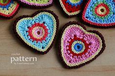 Sweet Crochet Heart Ornaments/Appliques