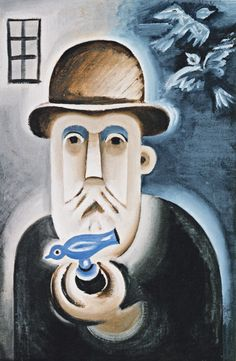 Toy salesman by Josef Čapek (Czech Georges Braque, To Collect, Writers And Poets, Cubism, Painting & Drawing, Modern Art, Cool Art, Artsy, Collage
