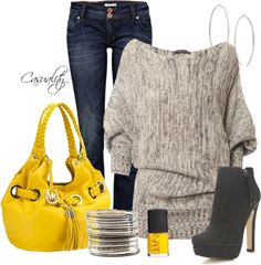 """Bold Mk Bag & Comfy Sweater"" by casuality on Polyvore,REPLICA MICHAEL KORS HANDBAGS WHOLESALE,CHEAP DISCOUNT MICHAEL KORS BAGS ON SALE,cheap michael kors bags upcoming $44.99"