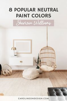 If you're on the hunt for the perfect neutral, you'll find it below in my curated list of 8 of the most popular Sherwin Williams neutral paint colors. Best Interior Paint, Interior Decorating Tips, Interior Paint Colors, Neutral Nursery Colors, Neutral Paint Colors, Top Paint Colors, Paint Colors For Home, Neutral Bedrooms, Guest Bedrooms