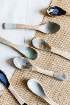 Beautifully made delicate ceramic spoons made in somerset and inspired by the sea. Perfect for serving tea and cake to guests.