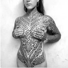 If you liked these tattoos you are going to dig these geometric pieces. #inked #inkedmag #tattoo #ink #art #design #pattern #chest