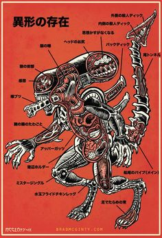Alien anatomy.