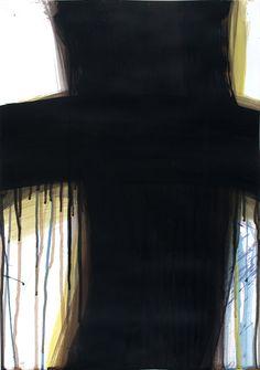 Arnulf Rainer: Teneriffa Kreuz, 2009, Acryl auf Papier (© Atelier Arnulf Rainer. Foto: Robert Zahornicky © VG Bild-Kunst, Bonn 2015) Arnulf Rainer, Christianity, Atelier, Contemporary Art, Paper, Bonn, Teneriffe, Kunst, Crosses