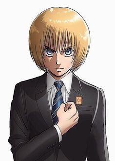 Manga Art, Manga Anime, Anime Art, Attack On Titan Ships, Attack On Titan Anime, Cute Anime Guys, I Love Anime, Armin Snk, Aot Characters