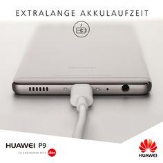 Das beste Smartphone nützt ja nichts, wenn es keinen Akku mehr hat. Deshalb kommt das #HuaweiP9 mit einer gewaltigen Akkuleistung von 3.000 mAh – genug um locker durch jeden Tag zu kommen.