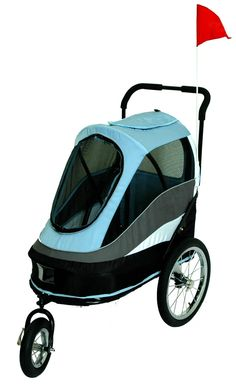 PetZip Pet Happy Trailer Dog Jogging Stroller ~ Extra large dog stroller that changes into a bicycle trailer ~ Handles rough terrain well with it's larger, more maneuverable wheels ~ Stroll your dog around in style and comfort Doggie Diva Cat Stroller, Jogging Stroller, Qi Gong, Dog Trailer, Bike Trailer, Biking With Dog, Best Dog Training, Training Tips, Dog Boutique