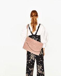 ZARA - WOMAN - SPLIT SUEDE BUCKET BAG WITH CHAIN DETAIL