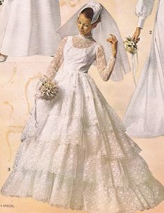 Spiegel 1971. Eve Of Milady Wedding Dresses, 1960s Wedding Dresses, Designer Wedding Dresses, Bridal Dresses, 1970s Wedding, Vintage Wedding Photos, Vintage Bridal, Vintage Weddings, Vintage Outfits