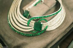 Adler emerald and diamonds necklace. http://www.styleslicker.com/2010/08/30/youre-my-kryptonite/